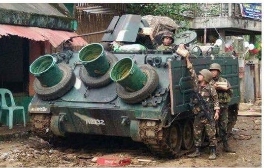 M113 from the Philippines Army, Battle of Marawi.jpg