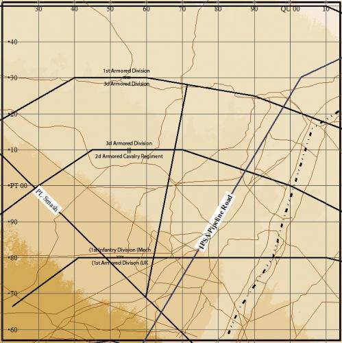 Iraq Kuwait NW Border (94x94km)